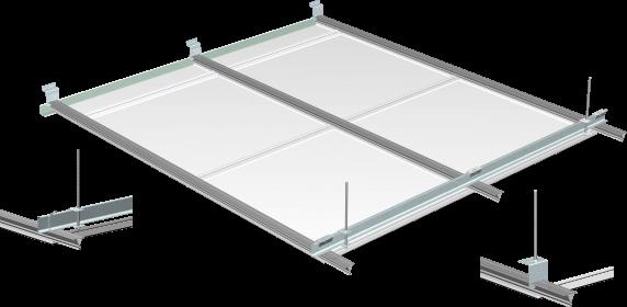 Système pour plafond métallique à clipser